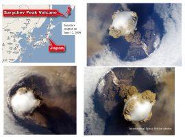 Panache de l'explosion du volcan Sarychev