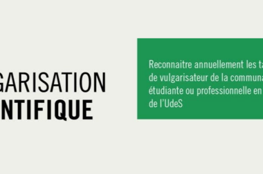 Participation à l'atelier «De l'épine dans le pied à l'avancée scientifique : storytelling et vulgarisation scientifique».